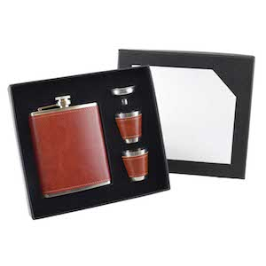 Coffret Flasque Red Russet 210ml UK Hip Flasks