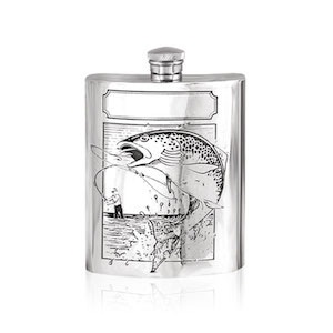 Flasque étain Pêcheur SF204 180ml English Pewter Company