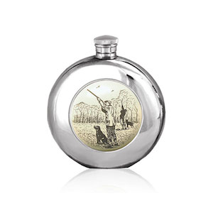 Flasque étain ronde SC185 180ml English Pewter Company