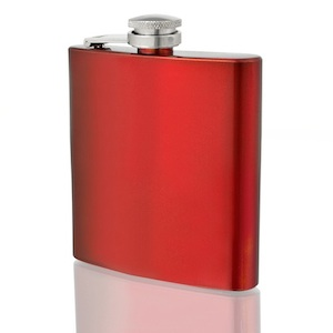 Flasque inox Red Metallic 180ml UK Hip Flasks