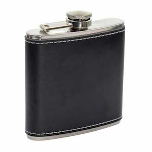 Flasque inox cuir 163 180ml UK Hip Flasks