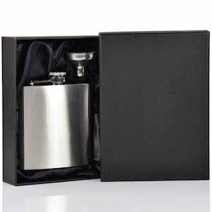 Coffret Flasque inox 112 180ml + Entonnoir UK Hip Flasks