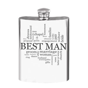 Flasque étain Best Man WD526 180ml English Pewter Company