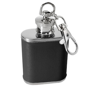 Flasque porte-clés Inox Simili Cuir 30ml Uk Hip Flasks